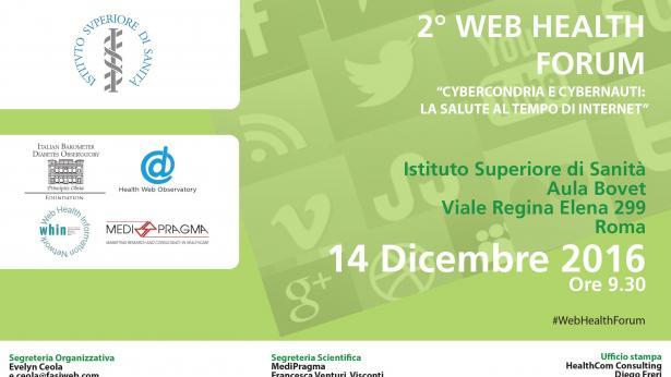 2° Web Health Forum: Cybercondria e Cybernauti, la salute al tempo di Internet