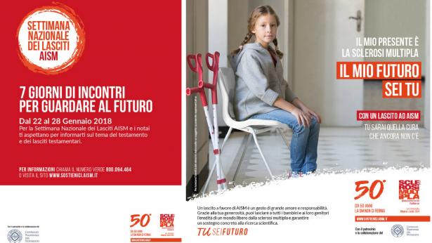 La nuova campagna AISM per i lasciti solidali a favore della ricerca sulla Sclerosi multipla