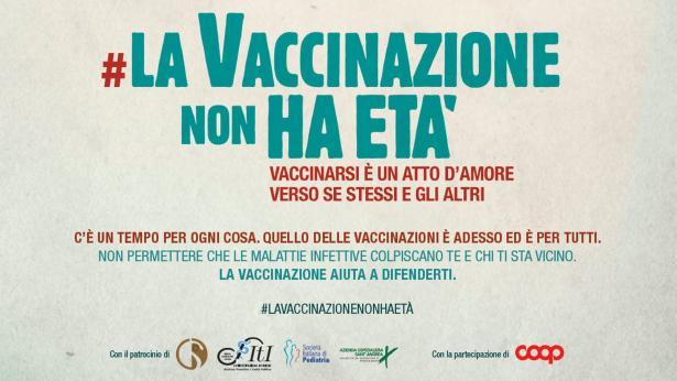 #LaVaccinazioneNonHaEtà, al via la campagna per promuovere i vaccini