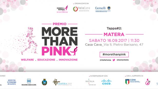 Salute, Donne e Innovazione: Paginemediche a Matera per partecipare al Premio More than Pink